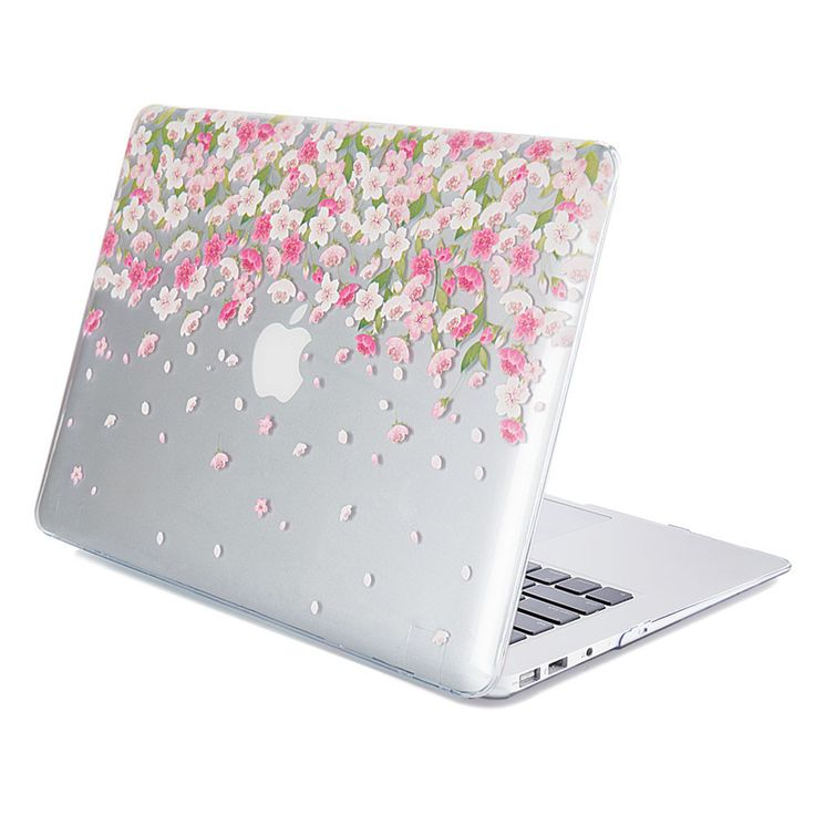 Hard Case Print Glossy Floral Pattern For Apple MacBook Air 13 Inch