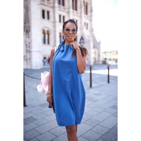 Blue bow summer dress, high street fashion, wmwear.com