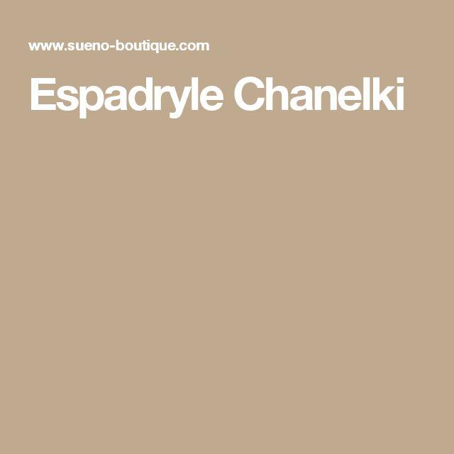 Espadryle Chanelki