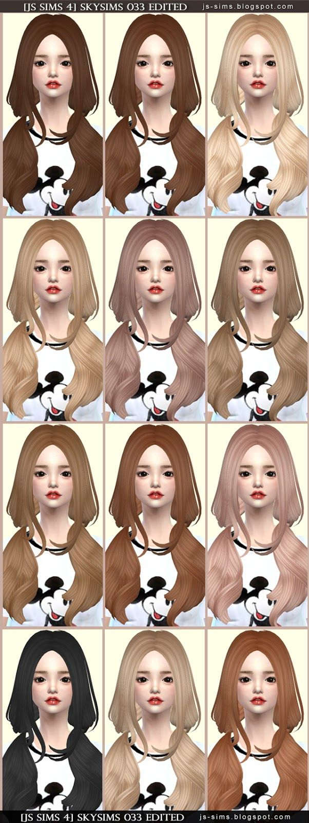 JS Sims 4: Skysims 033 hair retextured  - Sims 4 Hairs - http://sims4hairs.com/js-sims-4-skysims-033-hair-retextured/
