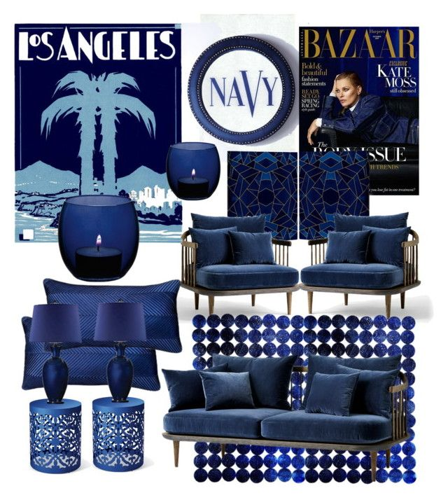 Deep in the NAVY blue by myhouse-myideas on Polyvore featuring polyvore interior interiors interior design home home decor interior decorating &Tradition Dimond Garima Dhawan West Elm LSA International COVERGIRL