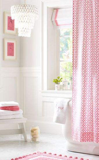 Pretty Bathroom In Pink And White Http Rstyle Me