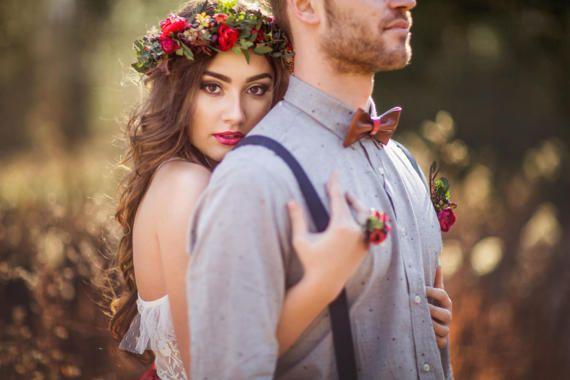 Boho hair wreath Natur wreath Flower hair wreath Bridal hair