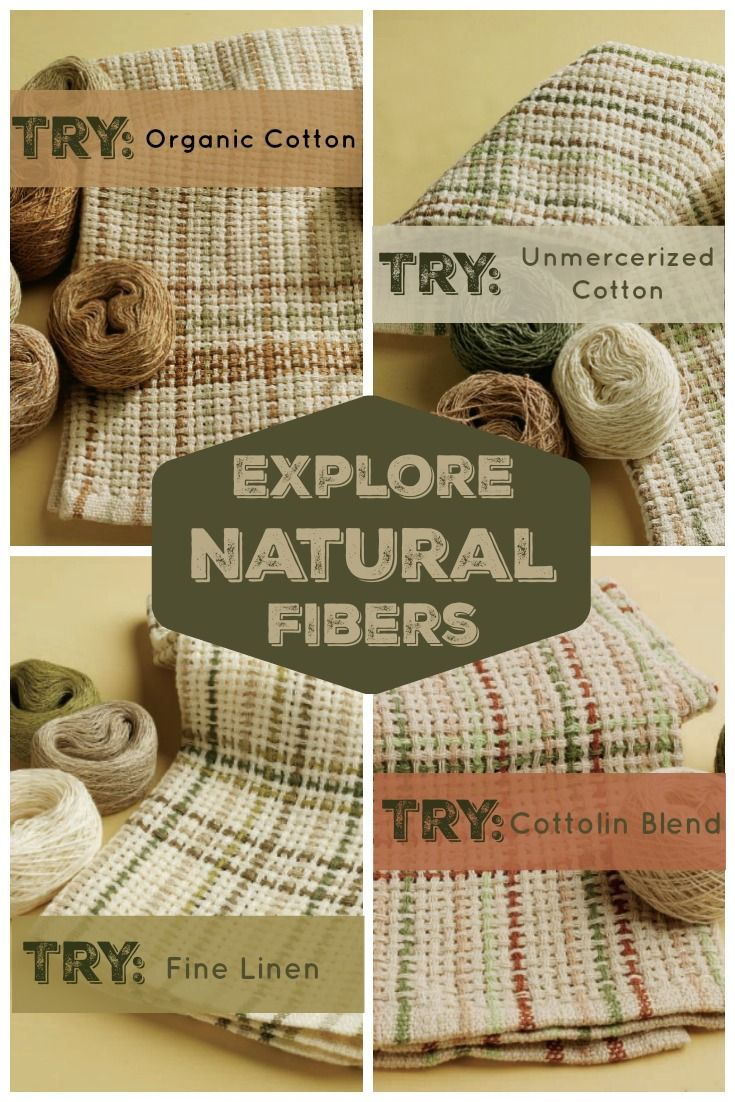 Free eBook: Weave a set of towels up in one or more of these four cellulose natural fibers and learn what makes each fiber type unique!
