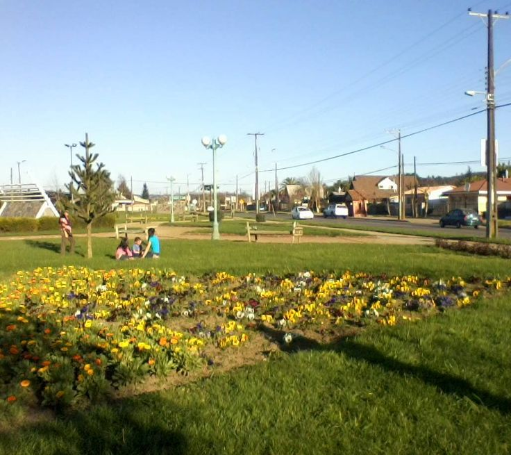 Esta plaza es de Angol y la foto me la mandó Camila Veronika Norambuena.