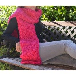 Twisted Scarf- kit scarf #TheWoolCollection #kit #tejer #knitting #scarf