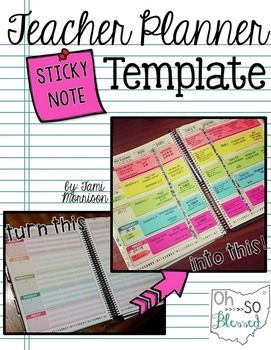 This FREE template file will help you create and print onto mini sized sticky notes to transform your lesson plans in your teacher planner! The file is a POWER POINT file so that you can add in your own text boxes - it is completely EDITABLE!It comes with links to tutorials that show/tell you EXACTLY how to print and what materials you will need.I LOVE planning with sticky notes and actually enjoy writing my lessons now!I hope you will love this as much as I do too...