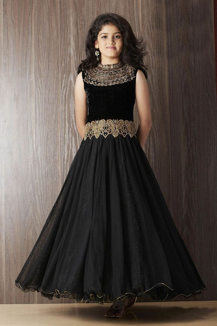 Picture of Designer black party gown