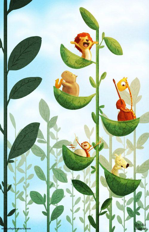 Jazz-Tree-Musical-Animals-Instuments-Lion-Hippo-Zebra-Giraffe-Nursery-Kids.jpg 500×780 pixels