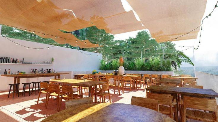 Sur la plage, le deuxième restaurant de l'Hôtel des Roches Rouges à Saint-Raphaël sur la Côte d'Azur propose une carte méditerranéenne authentique, simple et généreuse. #hotel #luxe #luxury #design #saintraphael #france #frenchriviera #cotedazur #provence #mediterranee