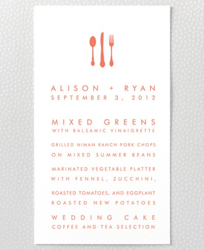 Desert Skyline Menu Card