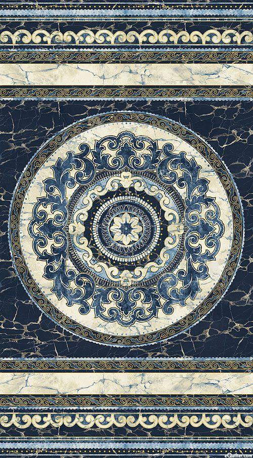 "Stonehenge Medici - Italian Marble - Blue/Gold- 24"" x 44"" PANEL"