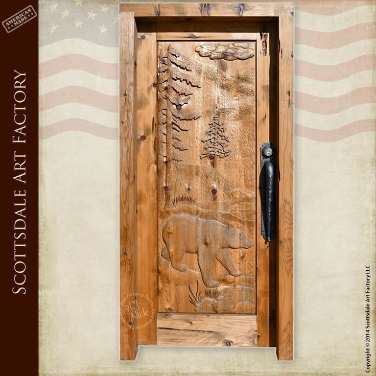 107 best images about black bear carvings on pinterest for Hand carved wood doors