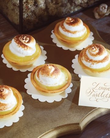 Another dessert table option was tiny lemon tartlets with meringue toppings