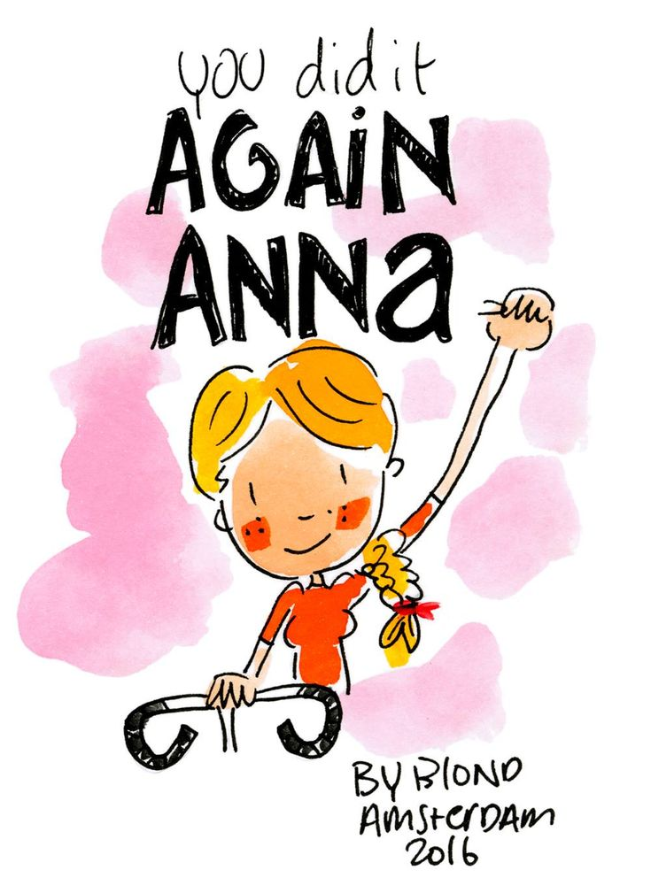 You did it again Anna! Olympische Spelen Rio 2016 by Blond-Amsterdam