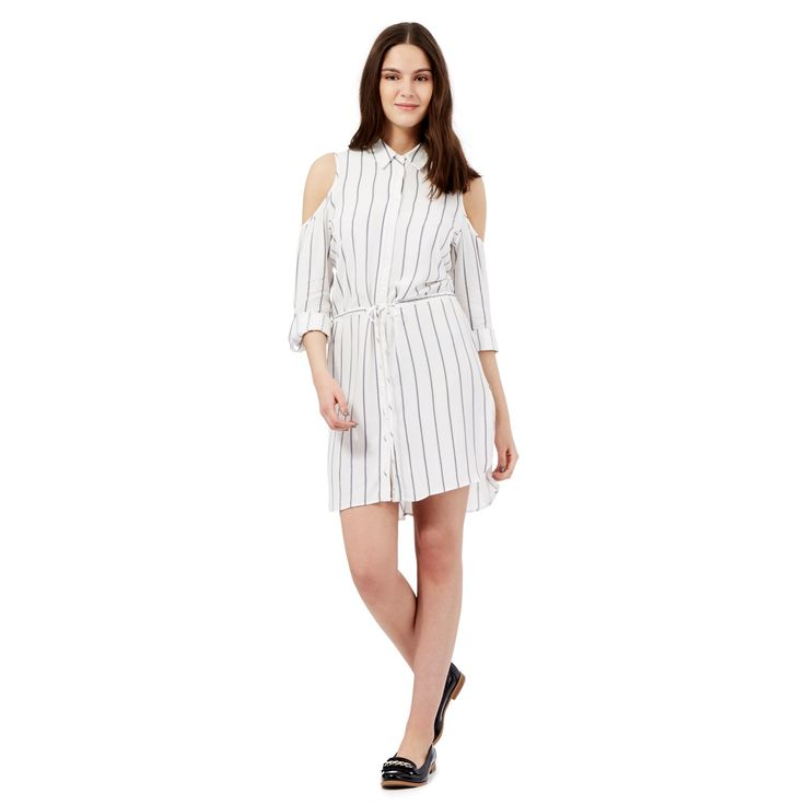 From our exclusive H! by Henry Holland range, elevate a smart-casual wardrobe with this lightweight dress. Working retro stripes into a contemporary look, it is designed in a classic shirt silhouette and features a self tie belt for versatile styling.