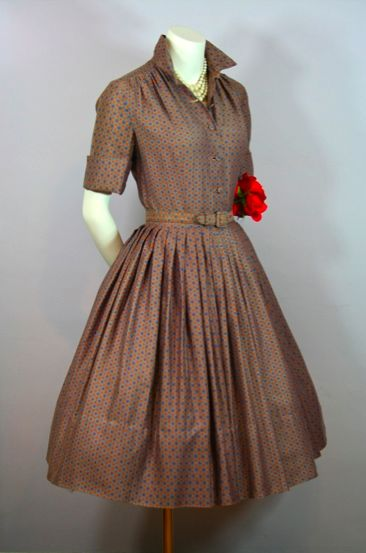 ~1950s            shirtdress~
