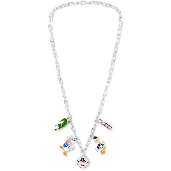 gucci necklace mens. gucci sterling silver enamel necklace (\u20ac1.155) ❤ liked on polyvore featuring men\u0027s fashion mens