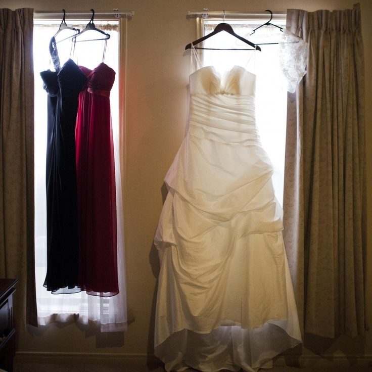 My dress with black and red brides maid dresses