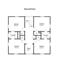 Shared A House With Several Friends That Had This 2nd Floor Layout. Great  Memories! Square House Plans2nd ...