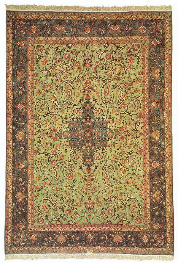 A carpet of Qom pattern eslimi signed