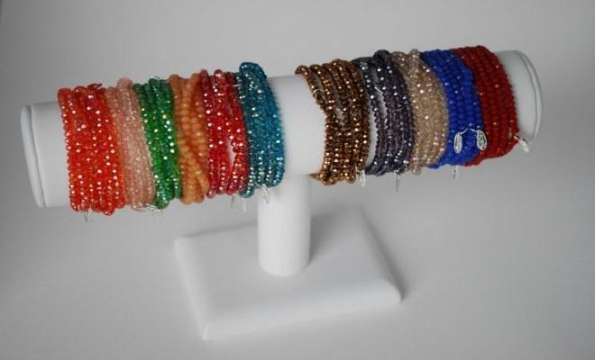 Gefacetteerde glas kralen armbandjes