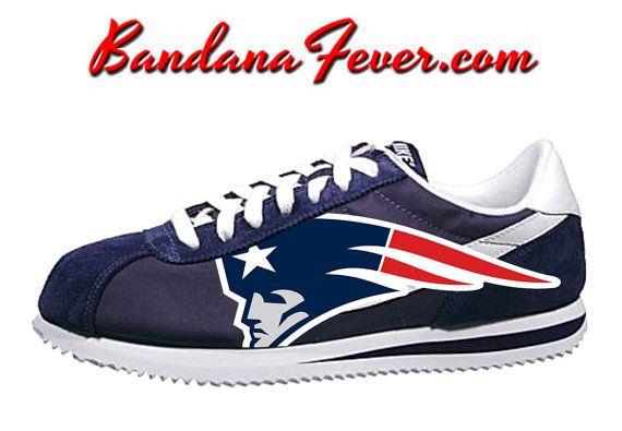 Nike Patriotas de Nueva Inglaterra Cortez por BandanaFeverDesigns