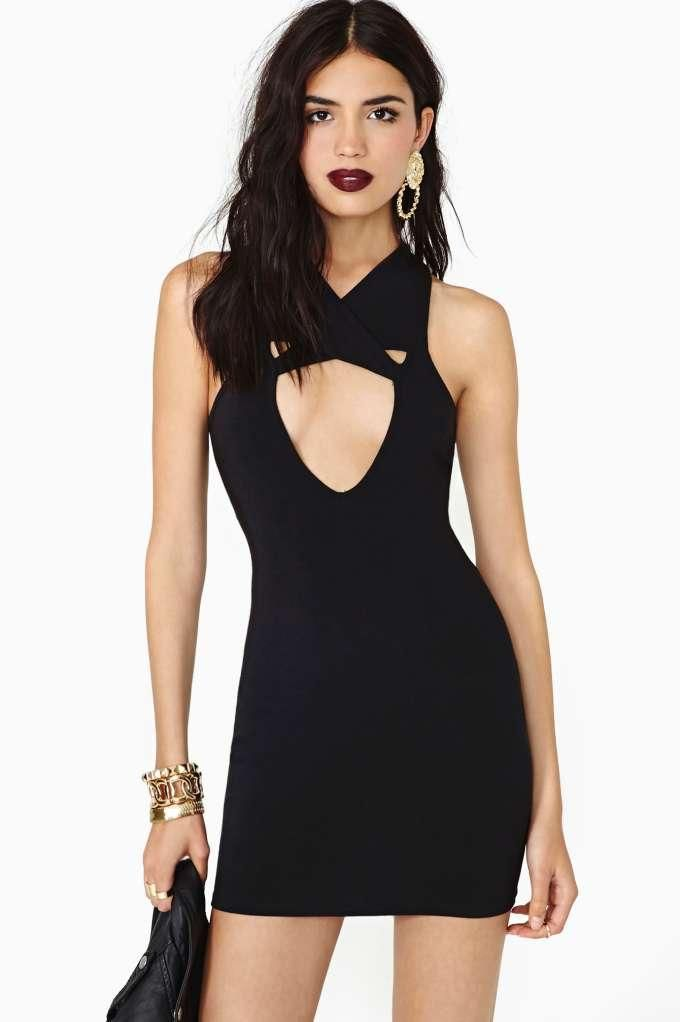 Nasty Gal Girl On Fire Dress in Black