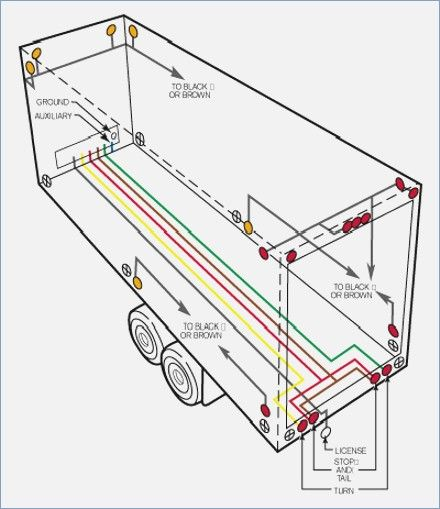 Semi Trailer Light Wiring Diagram  Auto Electrical Wiring