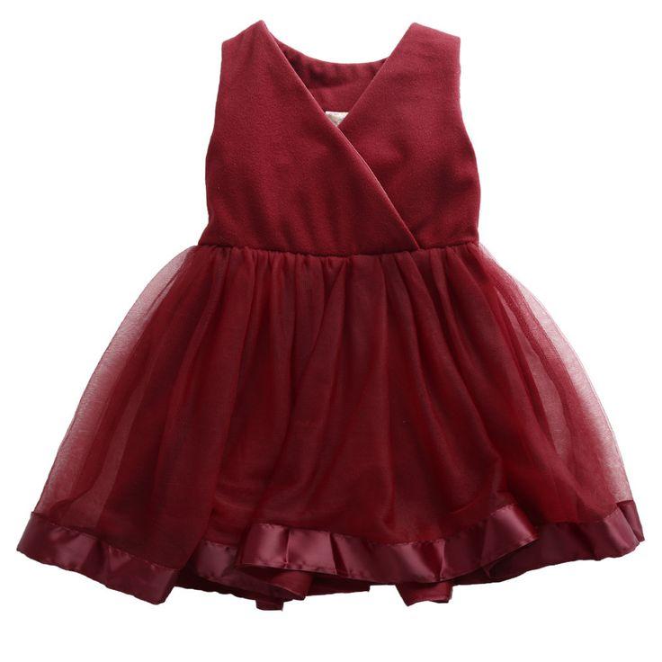 Maroon Tulle Dress