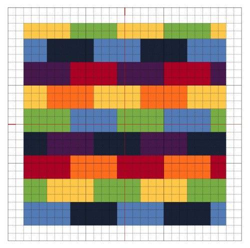 Cross Stitch Rainbow Block 9 - The Crafty Mummy