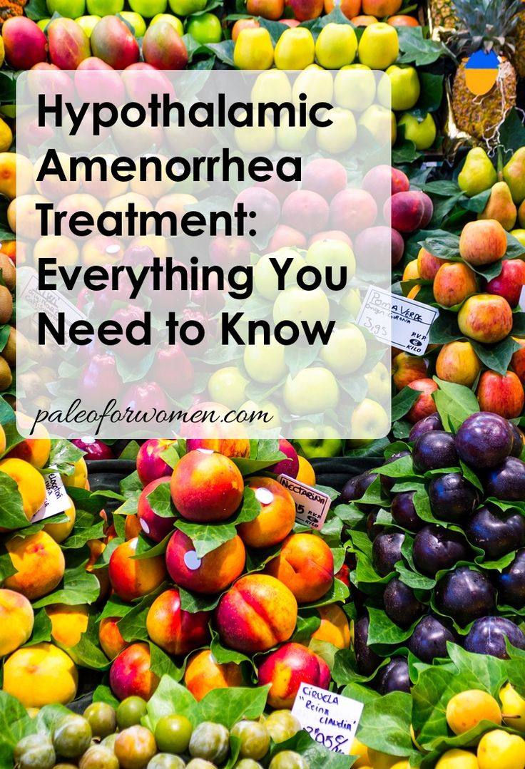 Hypothalamic Amenorrhea Treatment - reduce stress & eat more (less diet restriction, less interval training??)