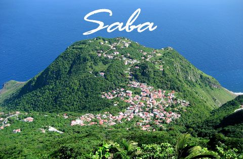 View from Mount Scenery on Saba. #Caribbean