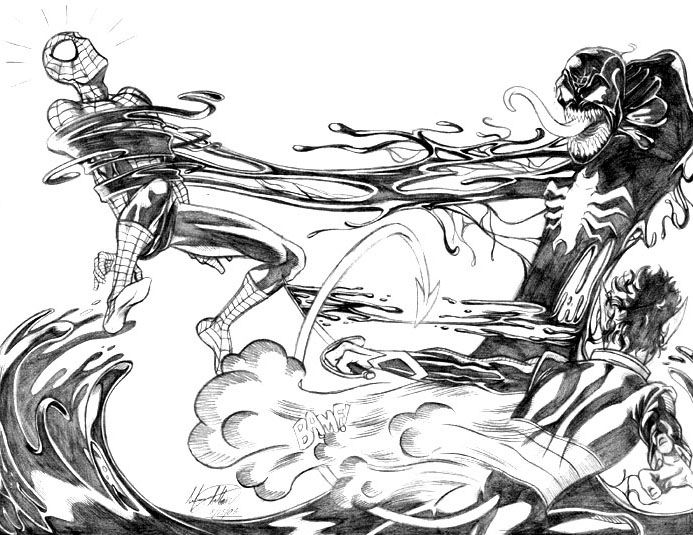 venom vs electro | deadpool vs. spiderman colouring pages ...