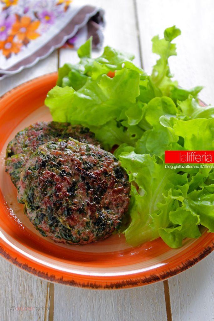 Hamburger agli spinaci senza uova