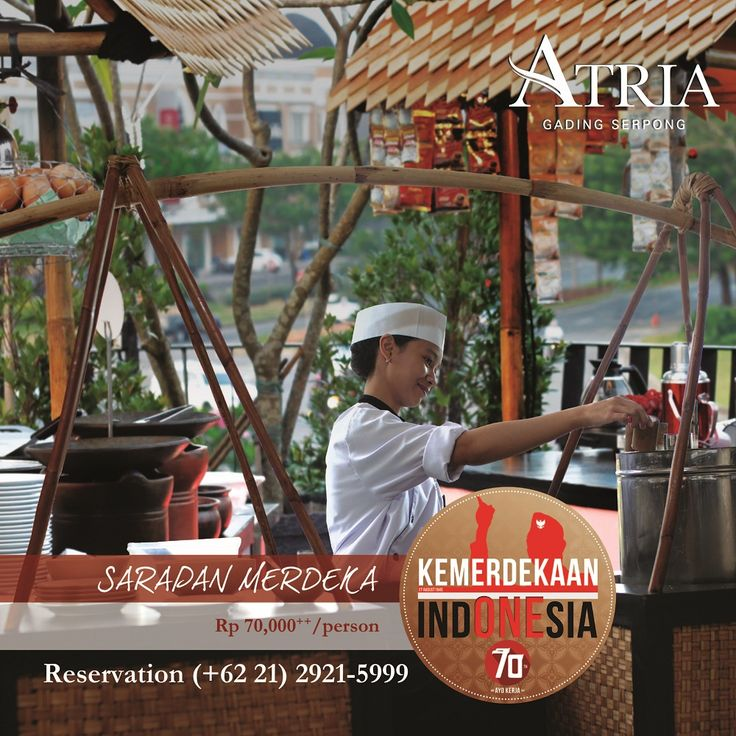 Sarapan Merdeka A huge selection delicious Indonesian dishes to savor the ambiance of freedom in the celebration of Indonesian Independence Day. Only Rp 70,000net/person #RI70  For more info please call (+62 21) 2921-5999