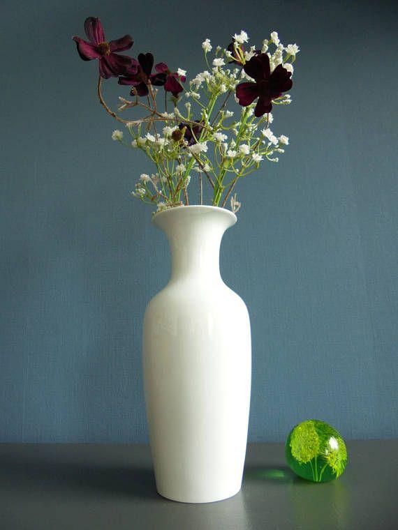 Wit porselein Scandinavische stijl vaas porseleinen vaas witte