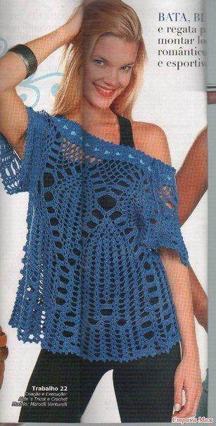 Delicadezas en crochet Gabriela: Hermosa túnica de ganchillo