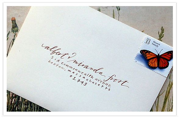 Calligraphy Envelope by Neither Snow