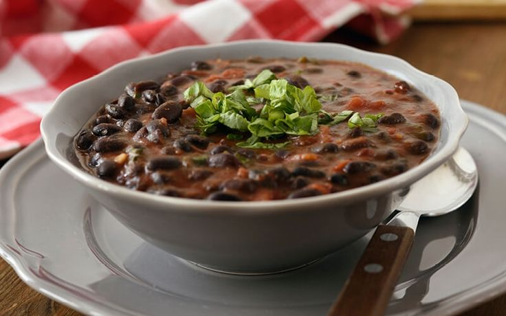 Black Bean Soup with Grilled Chicken Salad #healthy #recipe