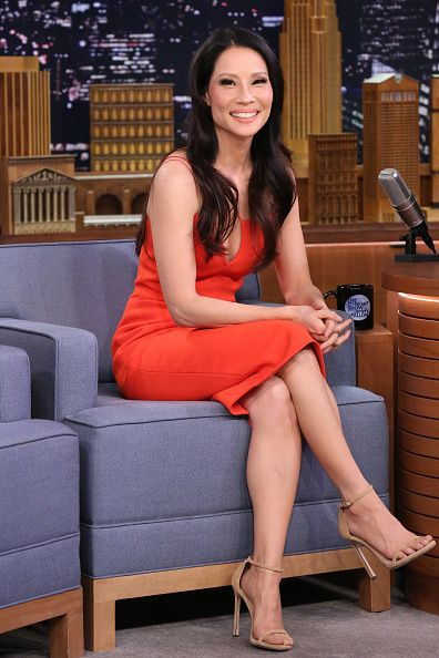 Fabulously Spotted: Lucy Liu Wearing Victoria Beckham - The Tonight Show - http://www.becauseiamfabulous.com/2016/01/15/3181762/