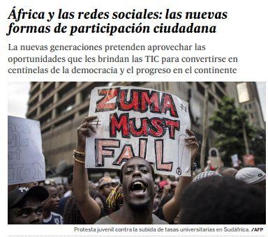 África y las redes sociales : las nuevas formas de participación ciudadana / @el_pais | #readyfordigitalcitizenship