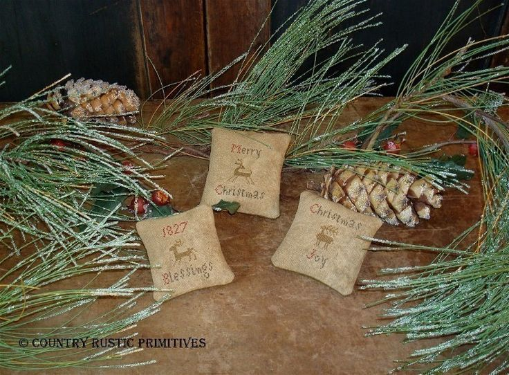 free images of christmas ornies to make | Primitive Christmas Bowl Filler Ornies E Pattern by countryrustic