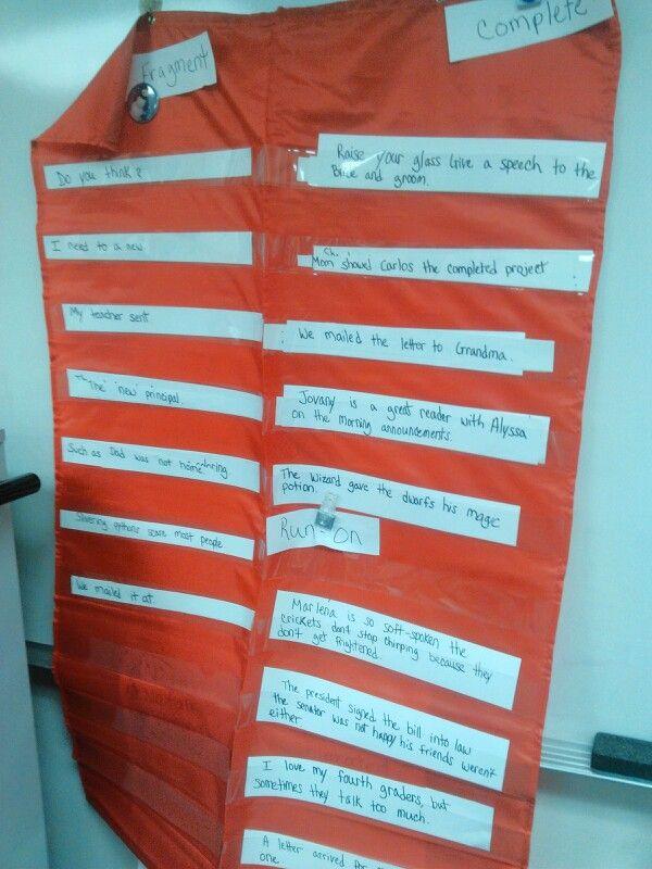 Fragments, run-on sentences, fourth grade writing, incorporate Kagan strategies.