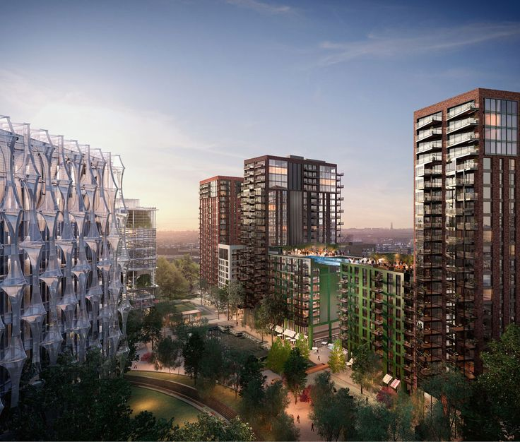 The united states embassy and embassy gardens london - Apartments with swimming pool london ...