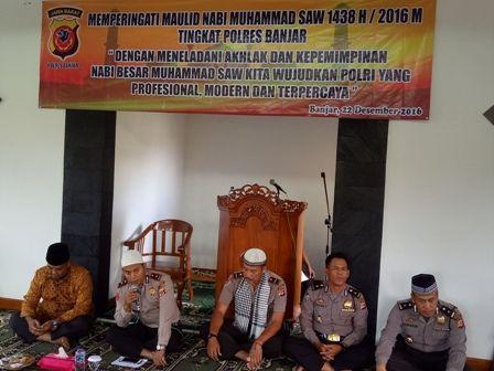 Polres Banjar Menggelar Peringatan Maulud Nabi Besar Muhammad SAW 1438H