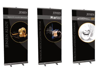 tradeshow banner. Like the black and these banners are so easy to setup and breakdown
