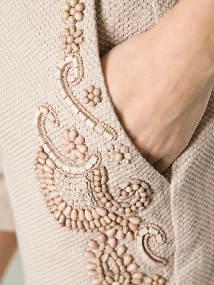 TWIN-SET - embroidered bead detail short 10