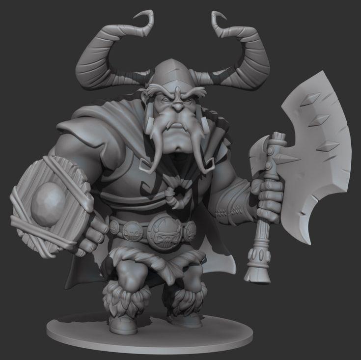 Viking Sculpt - WIP, Scott Kletzka on ArtStation at https://www.artstation.com/artwork/viking-sculpt