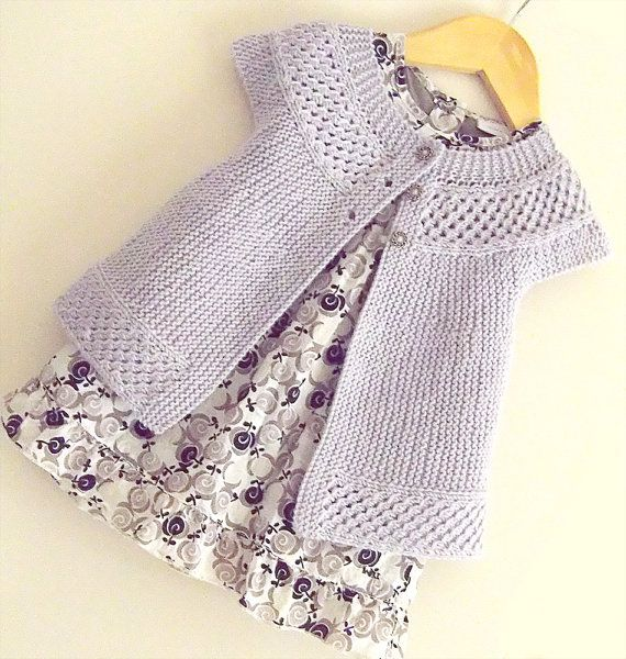 Knitting pattern for Baby  Angel Top - P057 This cardigan sweater top is worked from side to side which means absolutely no sewing required. Sizes 0 - 6 months, 6 -12 months,1-2 years More pics on Etsy (affiliate link) tba